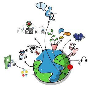 به طورخلاصه اینترنت اشیاء مفهوم اتصال هردستگاهی به اینترنت ودیگر دستگاههای متصل است.