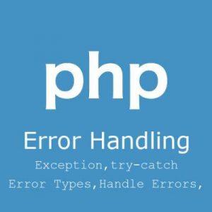 مدیریت خطا و استثنا در php